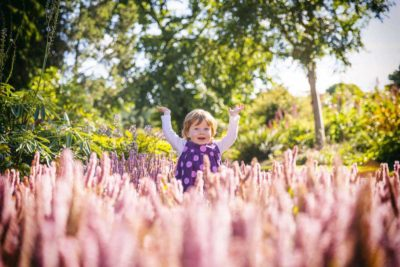Child Photography in the Botanic Gardens Edinburgh